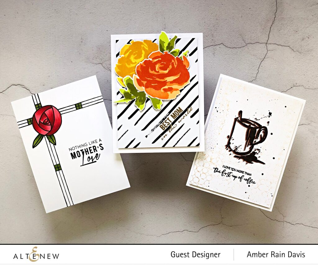 Altenew Rennie Roses, Painted Rose, and Splash of Coffee Cards
