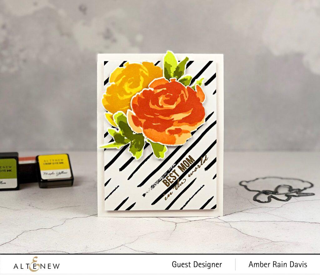 Altenew Painted Rose Handmade Greeting Card