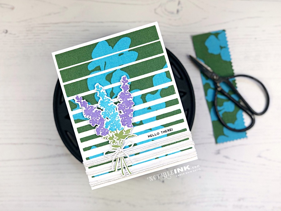 Using Fabric with Altenew Gradient Stripes Cover Die