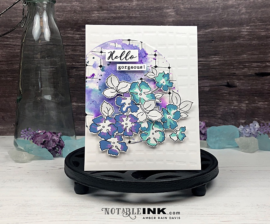 Ink Smooshing & Zentangle Card