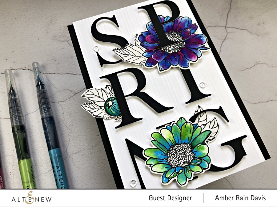 Bold Watercolor & Typography Handmade Card Design