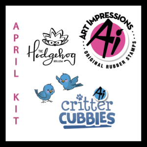 The Hedgehog Hollow April 2019 Kit Critter Cubbies by Art Impressions
