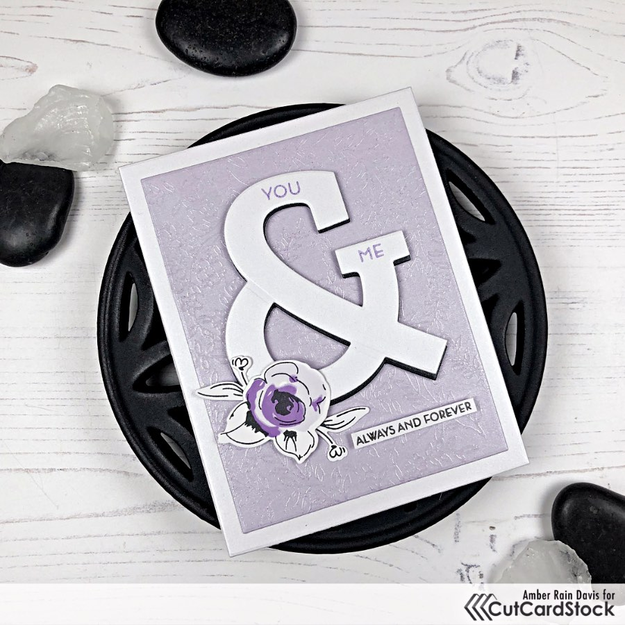 Stardream Metallic Cardstock with clear embossing & hand-drawn details
