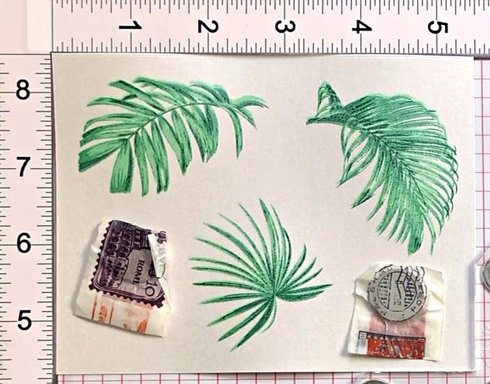 Stamp Altenew Wild Ferns on  Stardream Metallic cardstock