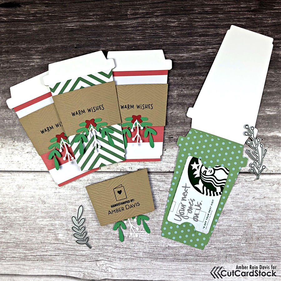 Coffee Cup Shaped Gift Cards