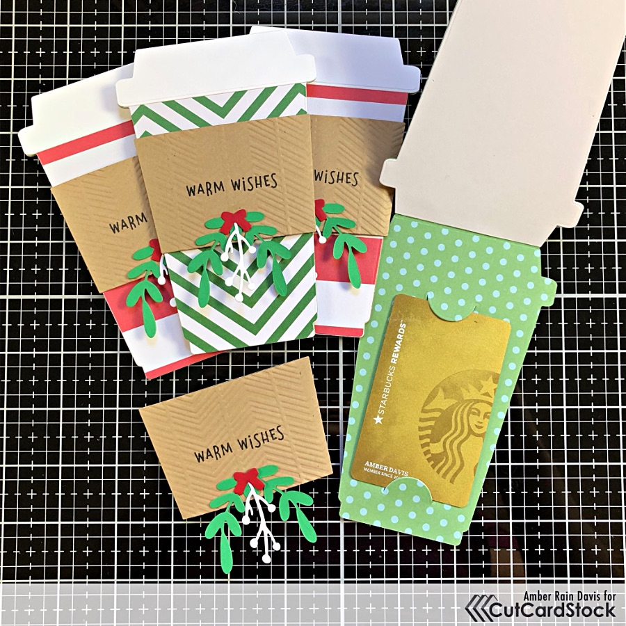 Add Gift Cards Inside the Coffee Cup Cards