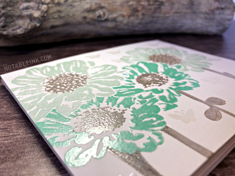 Embossing can save a splotchy stamped image