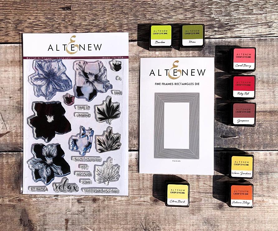 Altenew Build-A-Flower: Larkspur and Fine Frames Die