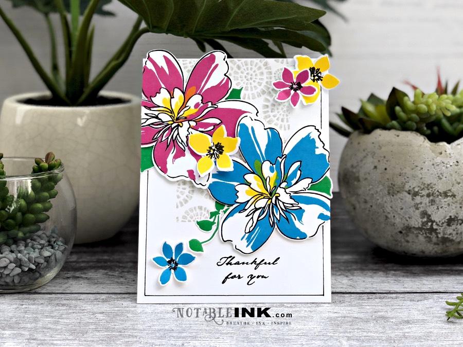 Altenew Block Print & Floral Art