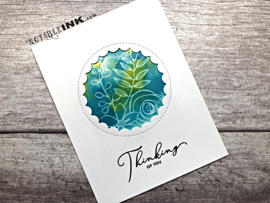 Alcohol Ink Cards with Simon Says Stamp October 2018 kit
