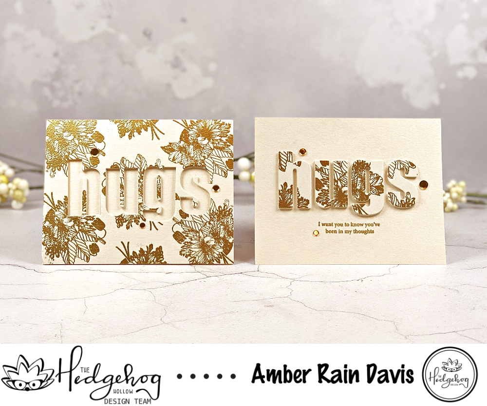Embossed Twofer Card Designs feat. The Hedgehog Hollow May 2019 Kit
