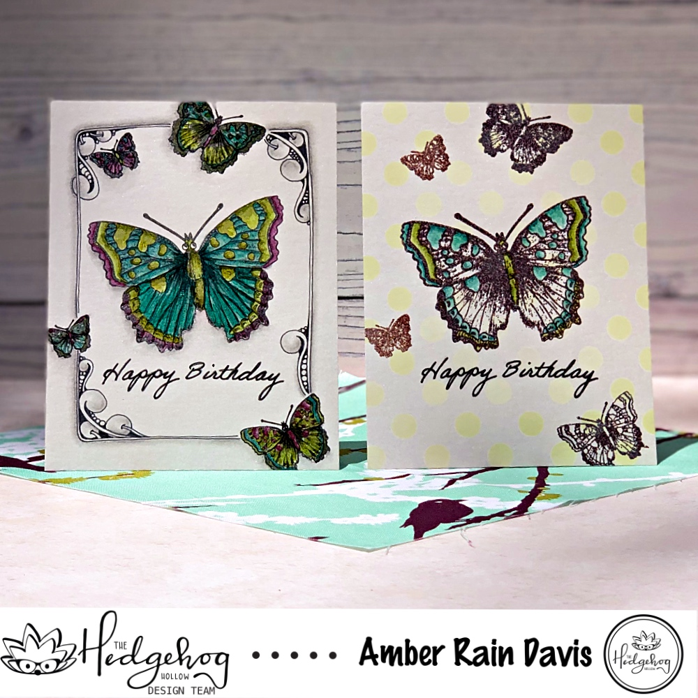Alcohol Markers on Shimmer Paper | The Hedgehog Hollow July 2019 Box