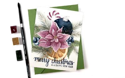 Watercolor Christmas Bouquet   Alex Syberia & Letter Sparrow