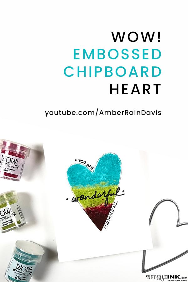 PINTEREST   Embossed Chipboard Heart