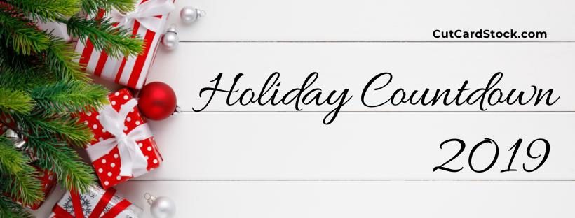 CutCardStock Holiday Countdown
