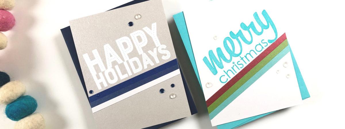 CAS Last Minute Christmas Cards