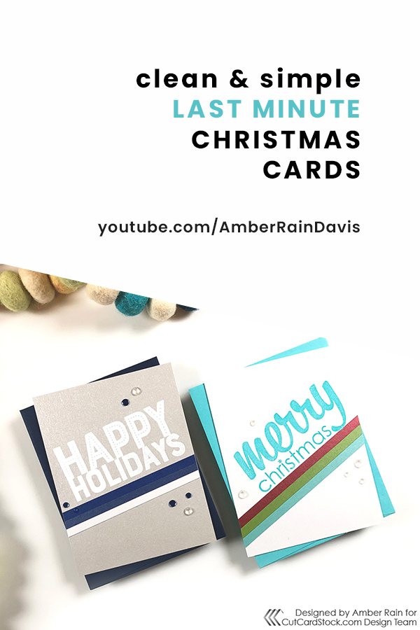 PINTEREST   CAS Last Minute Christmas Cards